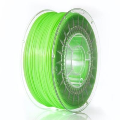 PLA пластик 1.75 мм ярко-зеленый прозрачный Devil Design (Польша)