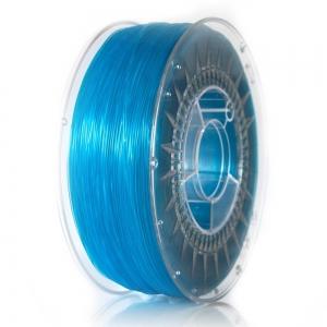 ABS+ 1.75 мм голубой прозрачный пластик для 3D печати Devil Design (Польша)