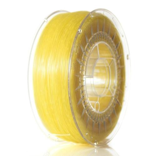 ABS+ пластик 1.75 мм ярко-желтый прозрачный Devil Design (Польша)