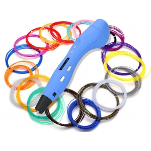 3D ручка + ABS пластик (6 цветов) + PLA пластик (6 цветов)