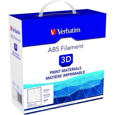 ABS 2.85 мм Білий Пластик Для 3D Друку Verbatim