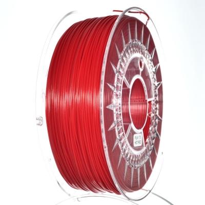PLA пластик 1.75 мм ярко-красный Devil Design (Польша)
