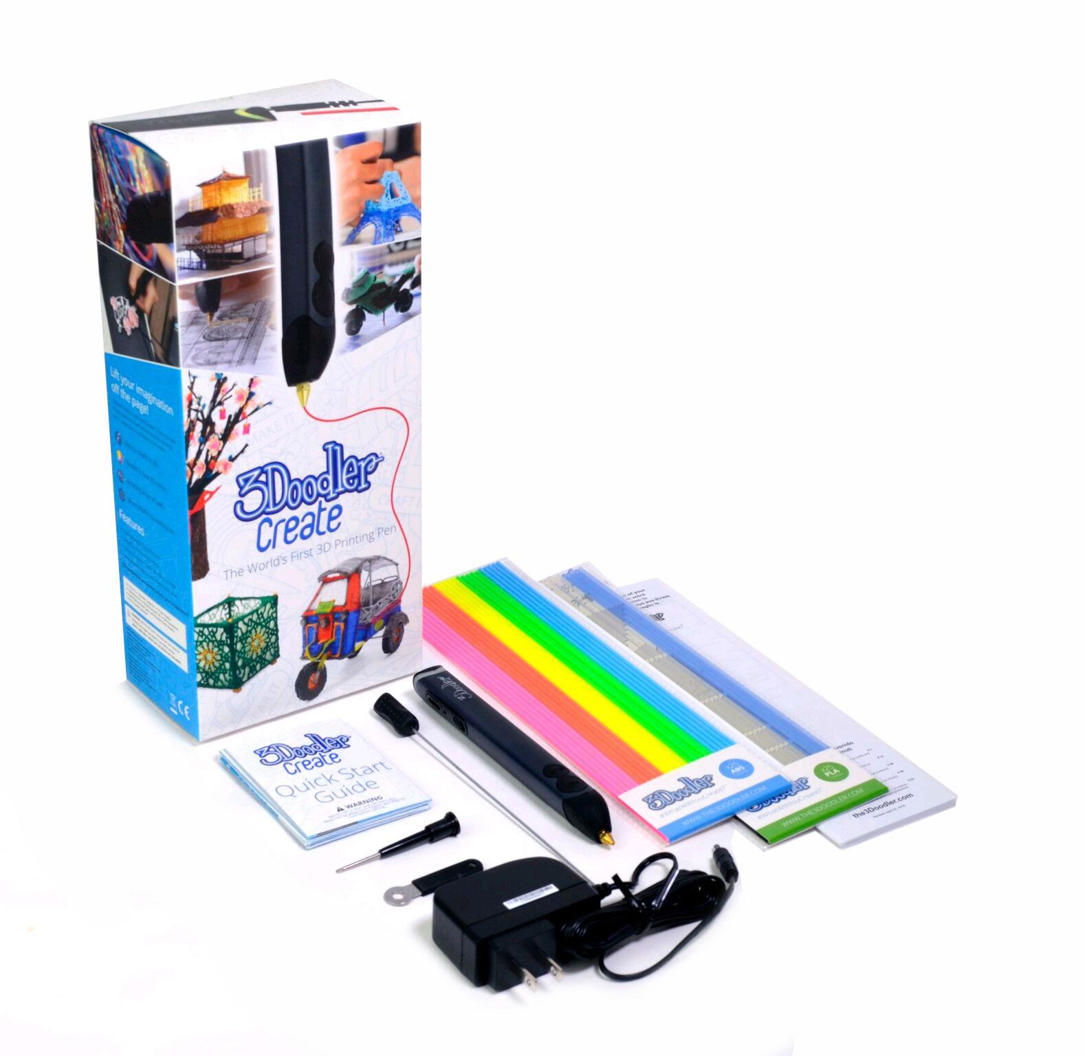 Комплект поставки 3D ручки 3Doodler Create