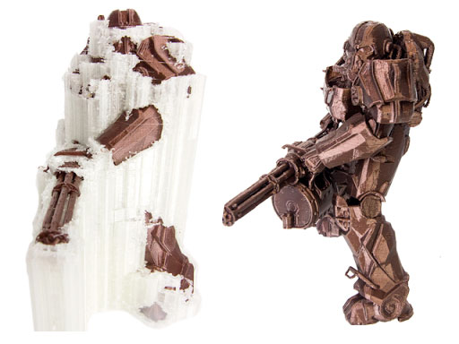 3D печать двойным экструдером