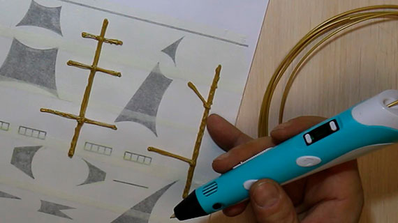 Рисуем 3D ручкой кораблик